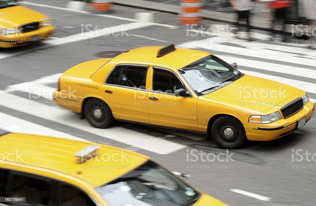 taxi in New York royalty-free stock photo