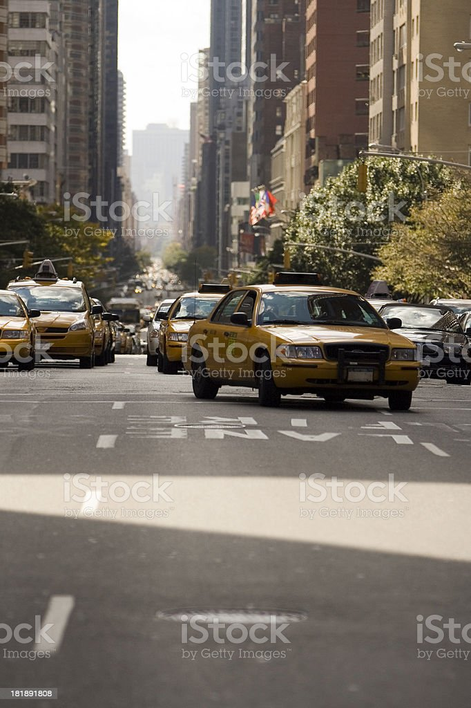 Taxi in NYC stock photo