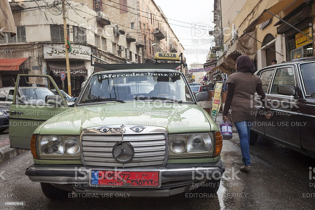 Taxi in the Middle East, Sidon, Lebanon royalty-free stock photo