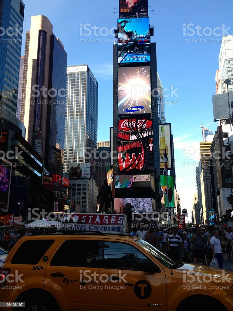 Taxi in Times Square NY royalty-free stock photo