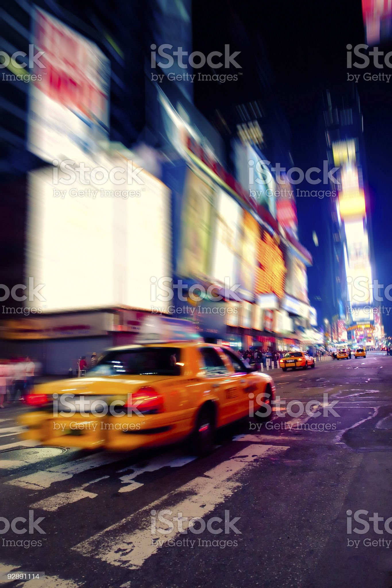 Taxi in Times Square royalty-free stock photo