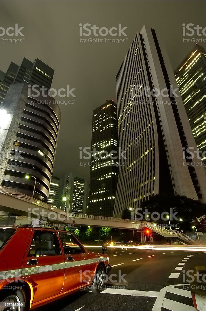 Taxi in Tokyo royalty-free stock photo