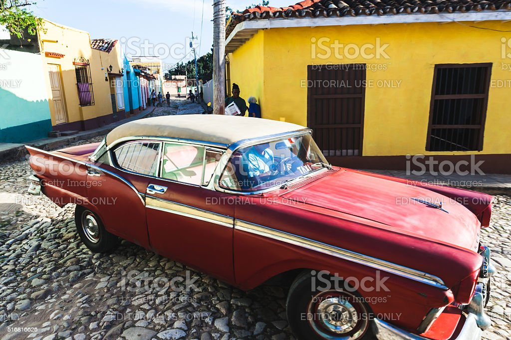 Taxi in Trinidad stock photo