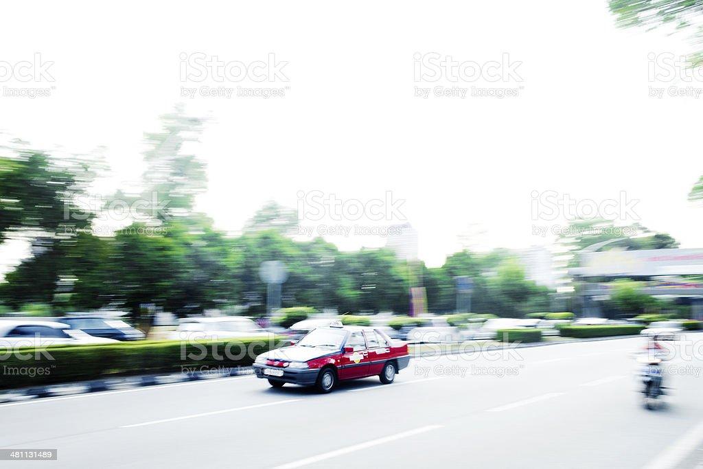 Taxi, Kuala Lumpur, Malaysia royalty-free stock photo