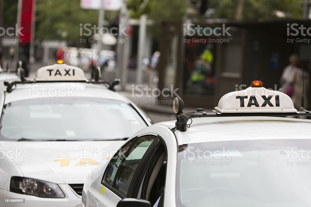 Taxi Lights stock photo