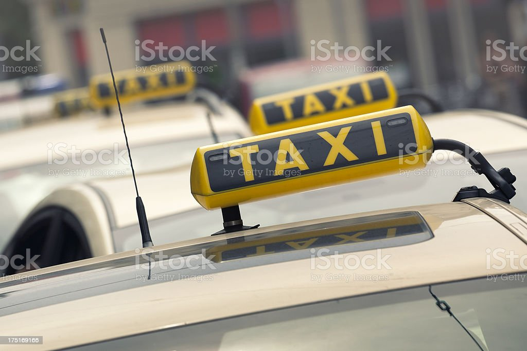 Taxi line royalty-free stock photo