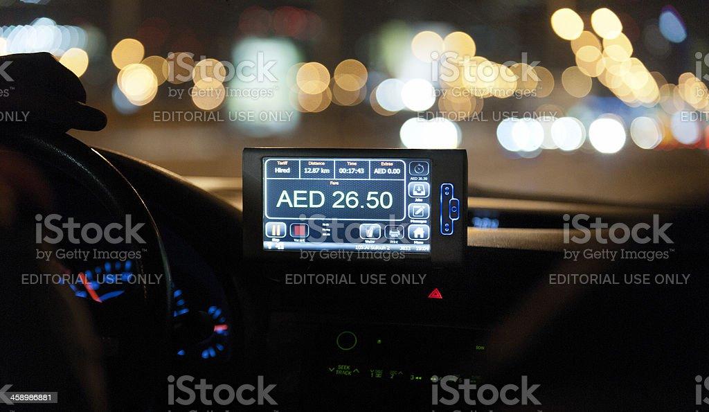 taxi meter in Dubai stock photo