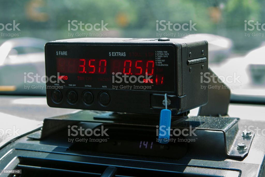 Taxi Meter stock photo