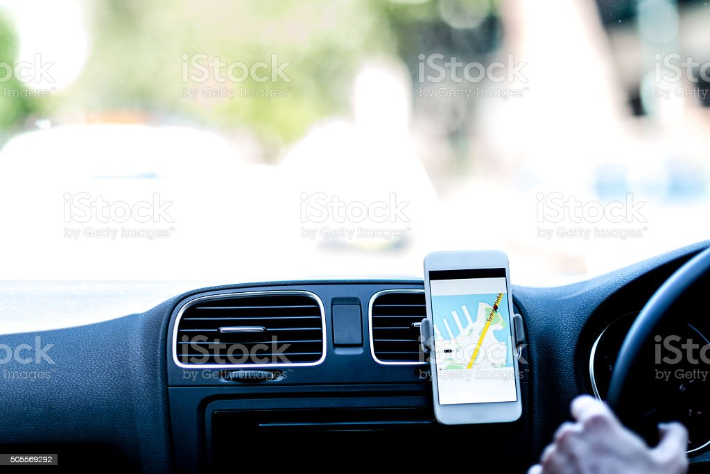 Taxi navigation stock photo