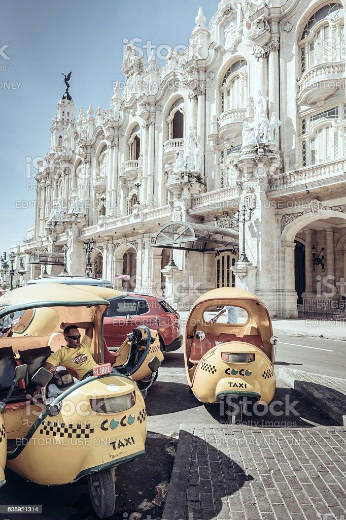Taxi on Prado stock photo