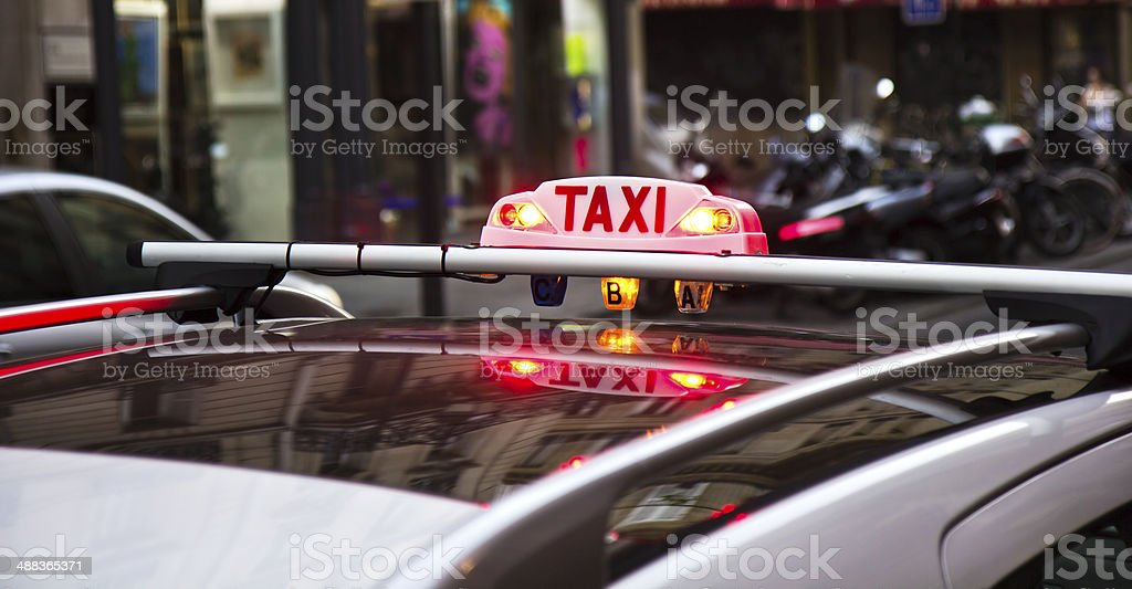 Taxi Parisien foto stock royalty-free