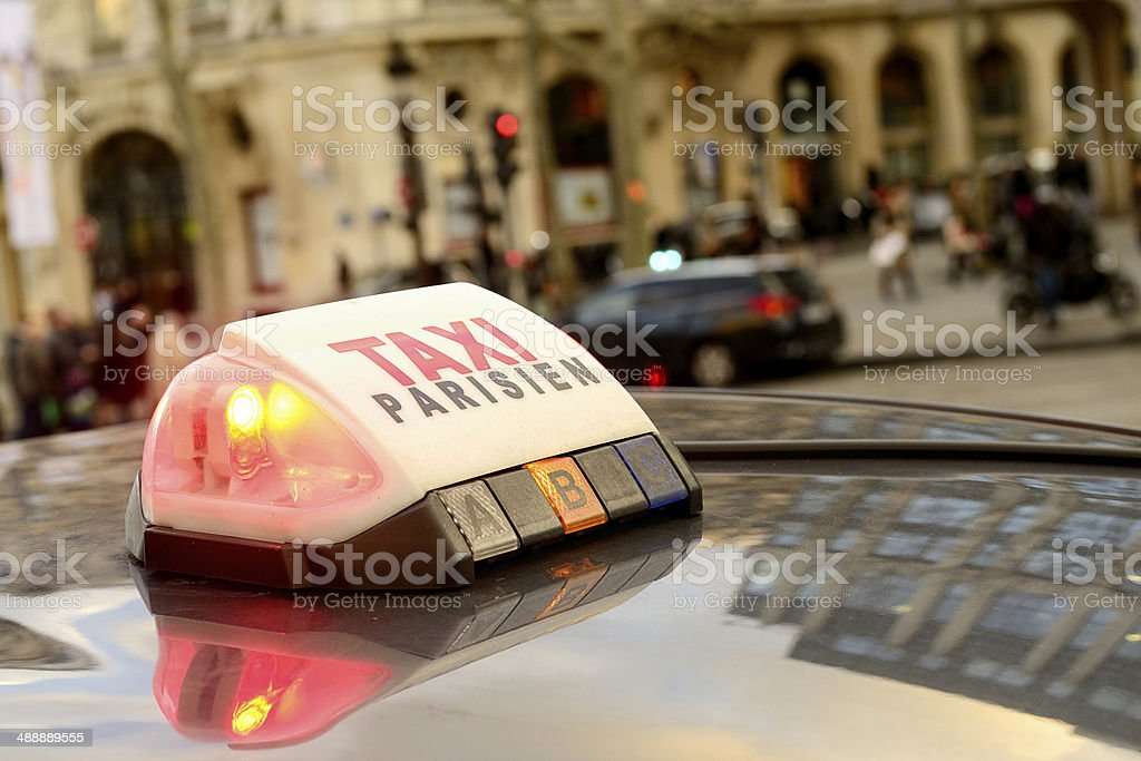 Taxi Parisien stock photo