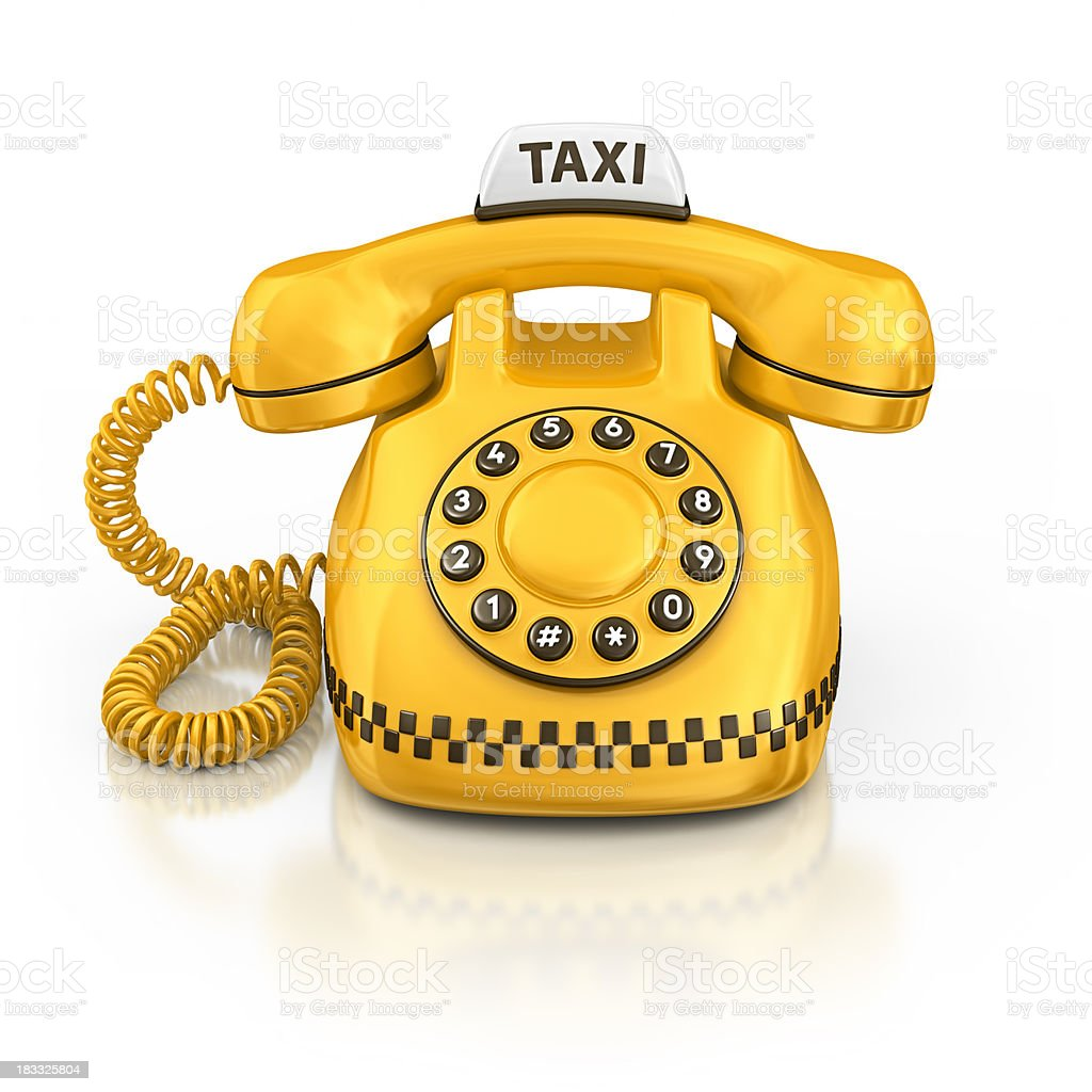 taxi phone royalty-free stock photo