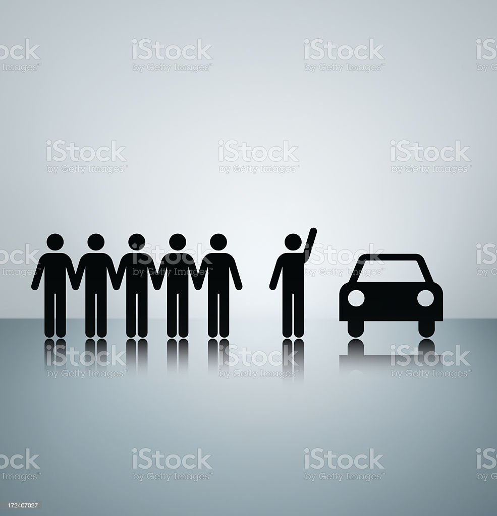 Taxi! royalty-free stock photo