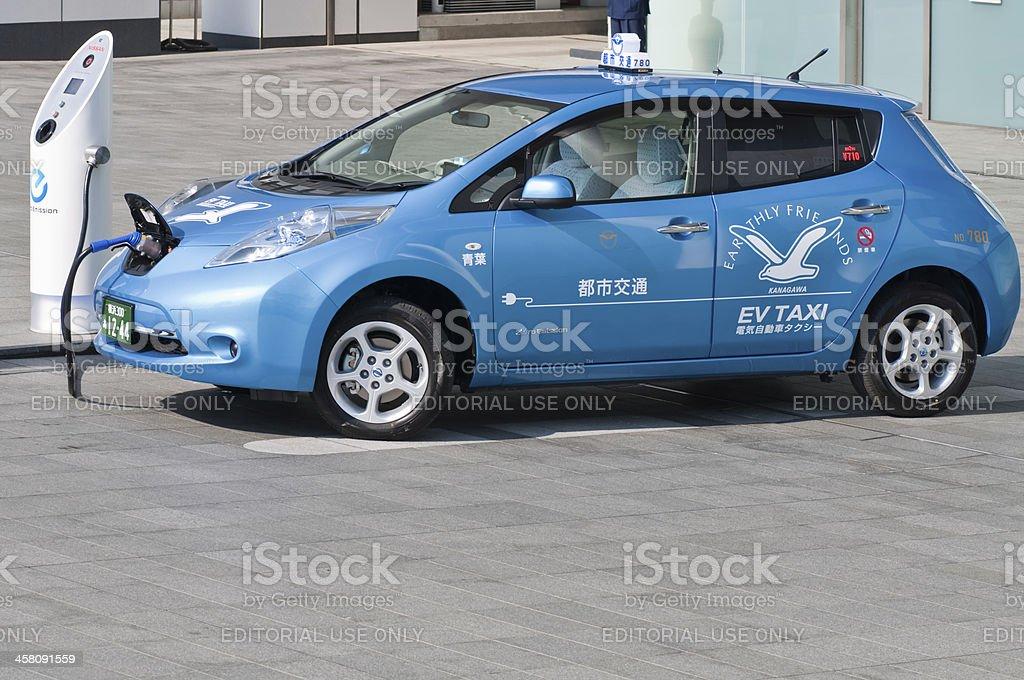 EV taxi royalty-free stock photo