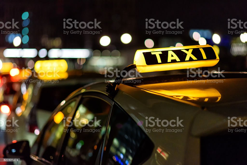 Taxi stock photo