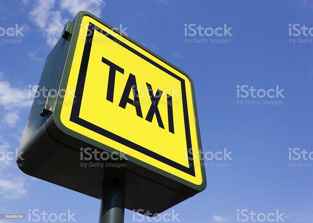 Taxi rank sign stock photo
