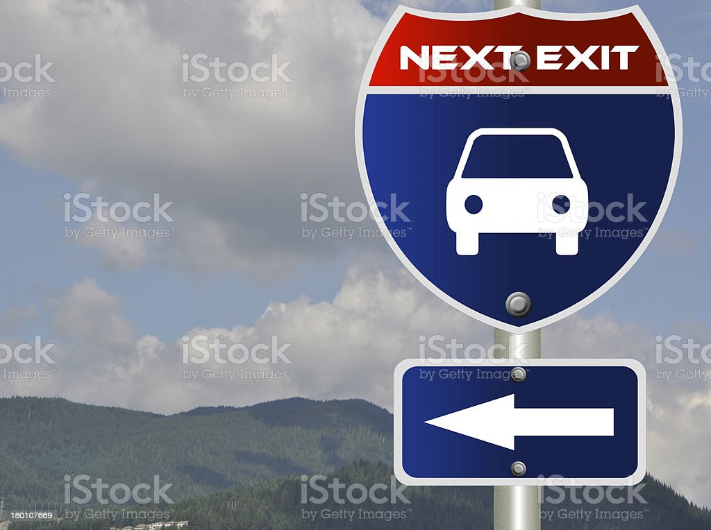 Taxi road sign royalty-free stock photo