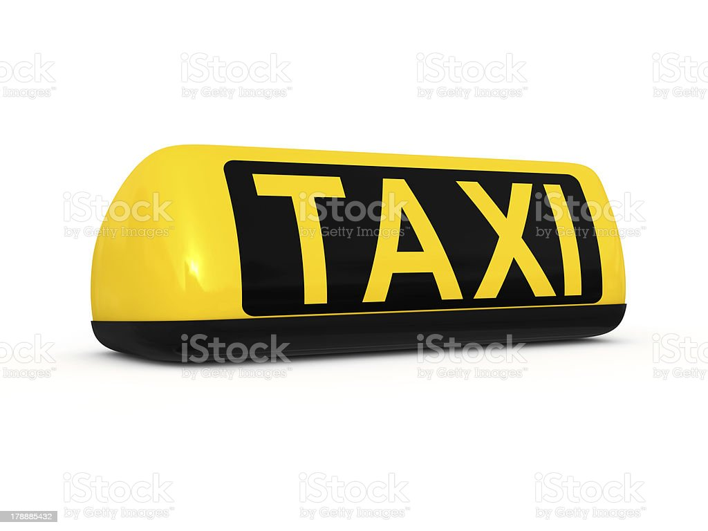 Taxi roof sign royalty-free stock photo