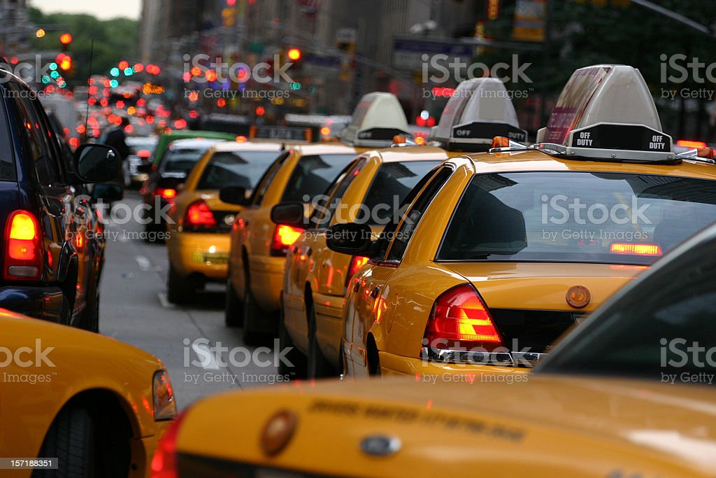 Taxi row on 5.avenue royalty-free stock photo
