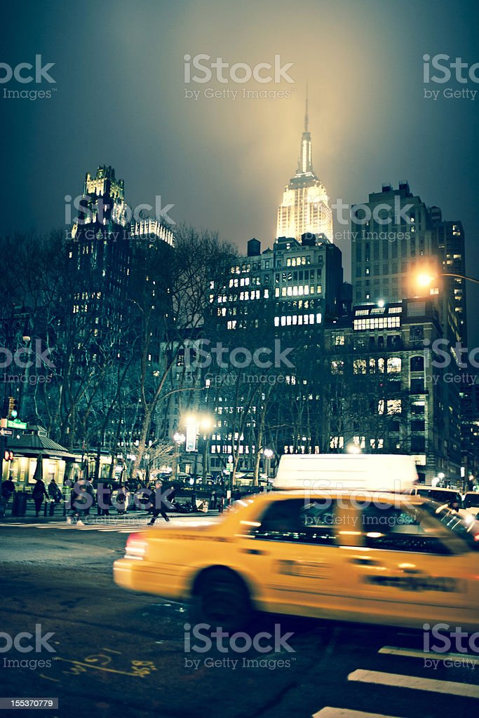Taxi rush in a rainy day royalty-free stock photo
