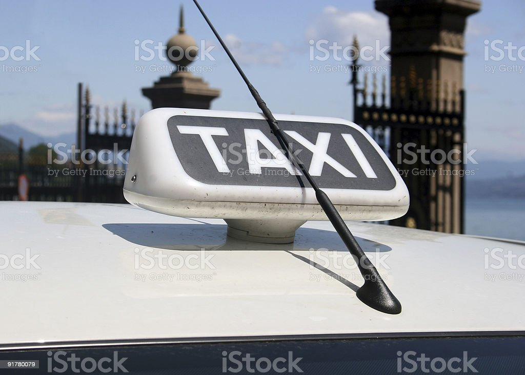 Taxi sign in Italy royalty-free stock photo