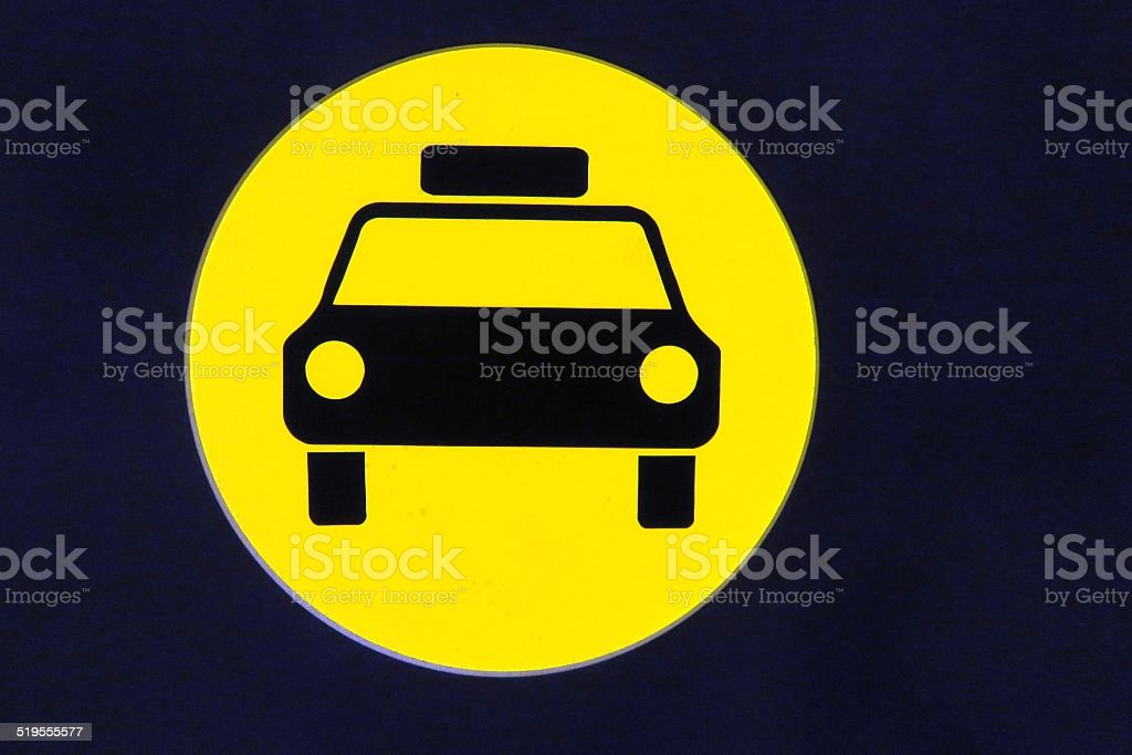 Taxi Sign stock photo