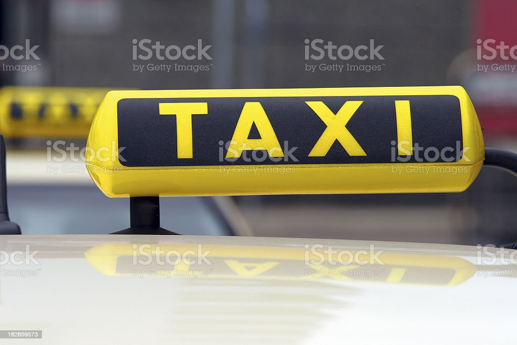 Taxi Station in Germany royalty-free stock photo