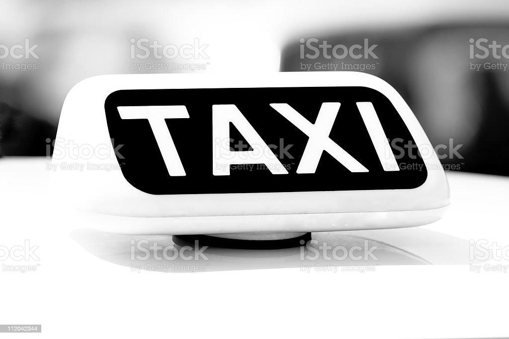 Taxi - Urban Mode of Transport, Lombardia, Milan Italy stock photo
