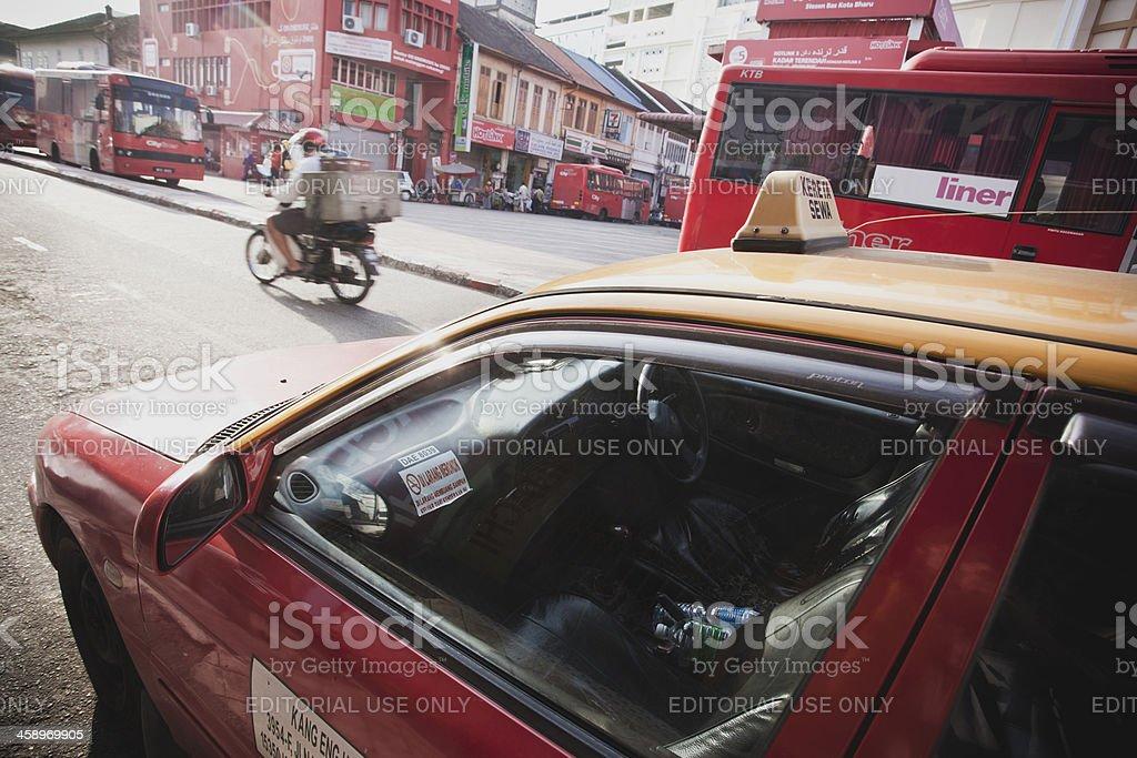 Taxi waiting in Kota Bharu's stock photo