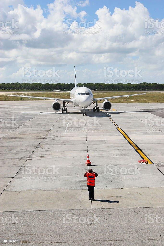 Taxiing Aircraft stock photo