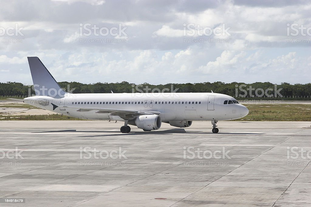 Taxiing Aircraft royalty-free stock photo