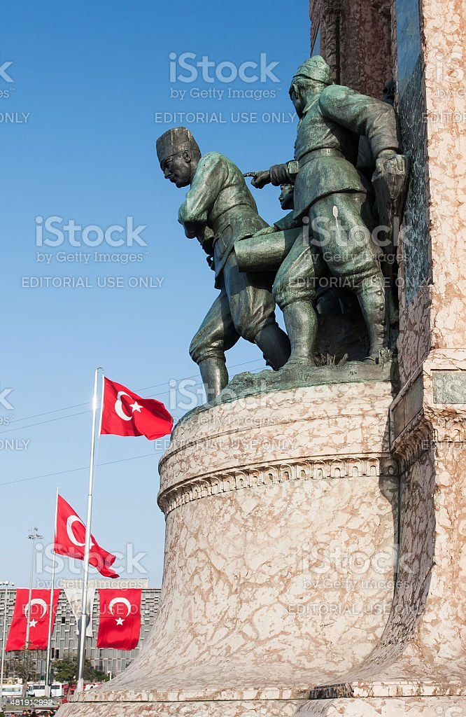 Taxim square, Istanbul stock photo