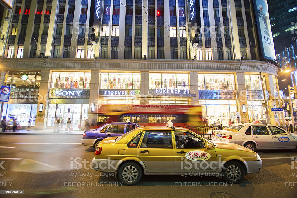 Taxis in Shanghai royalty-free stock photo