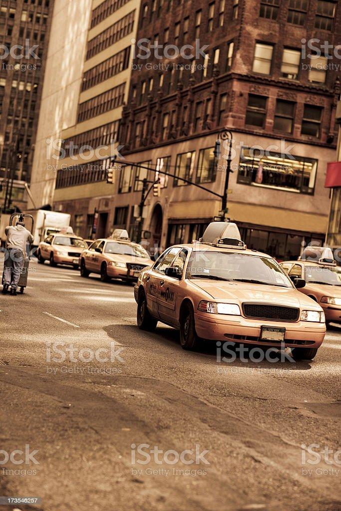 NY Taxis royalty-free stock photo