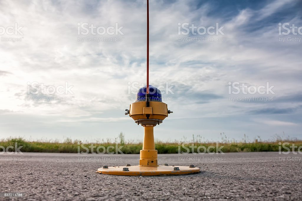 Taxiway, side row lights stock photo