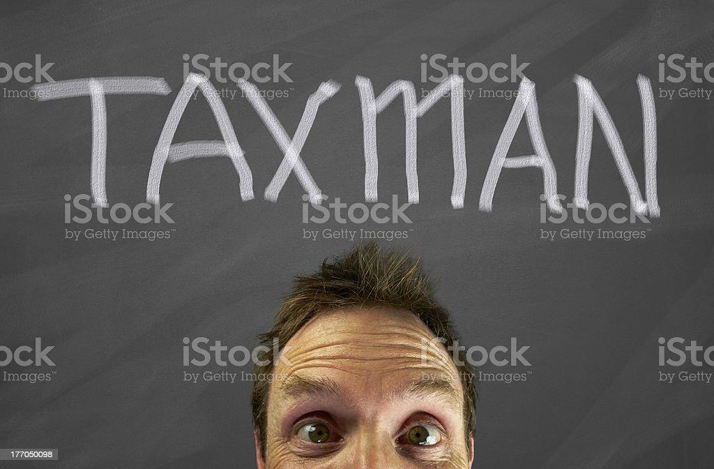 Taxman royalty-free stock photo