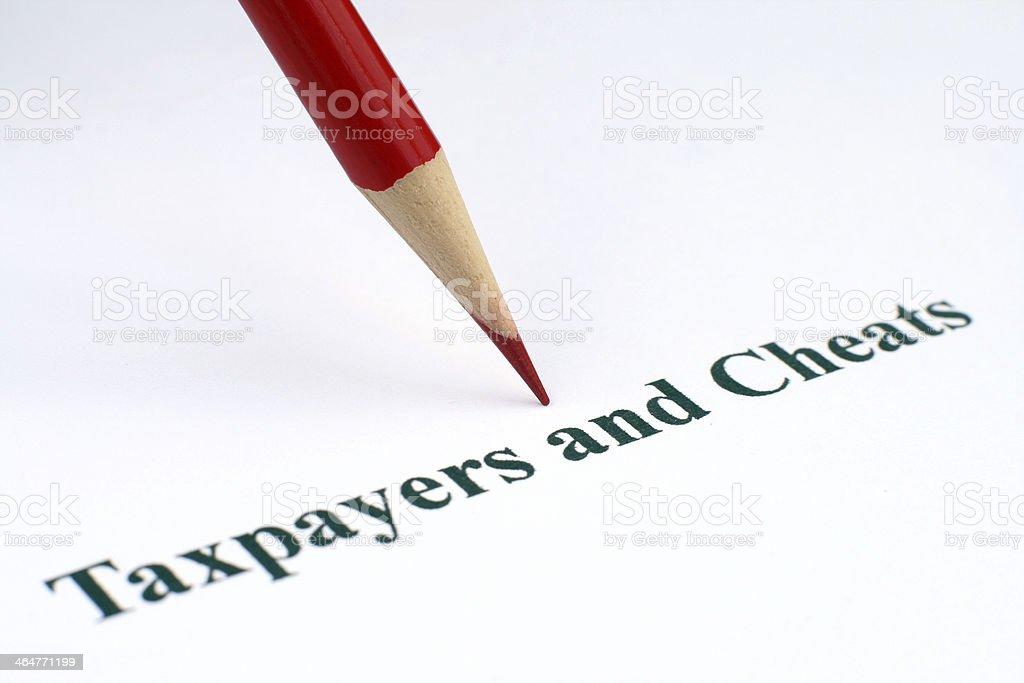 Taxpayers and cheats royalty-free stock photo