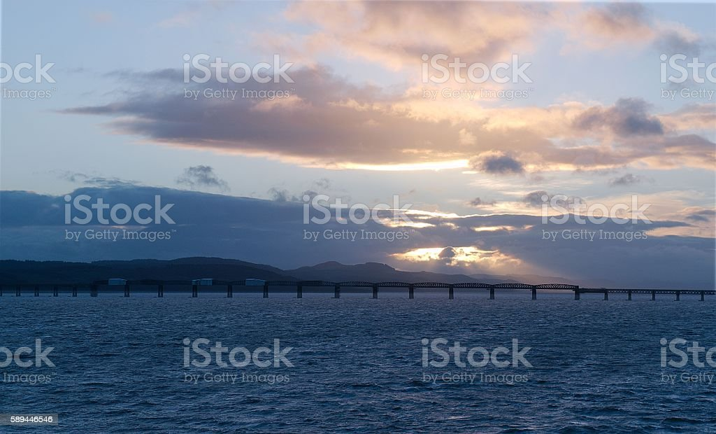 Tay Rail Bridge stock photo