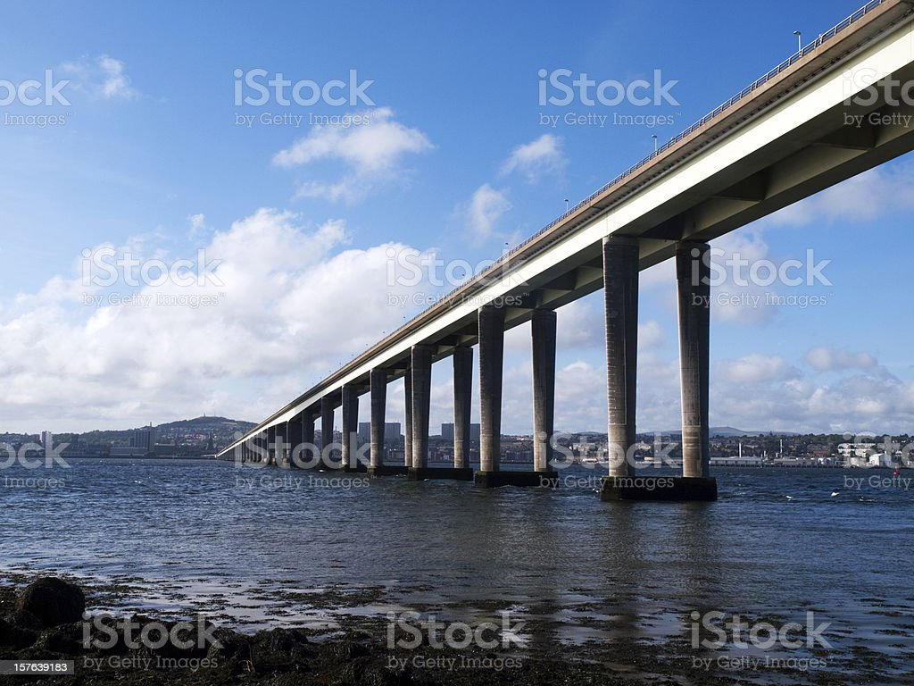 Tay Road Bridge to Dundee, Scotland stock photo