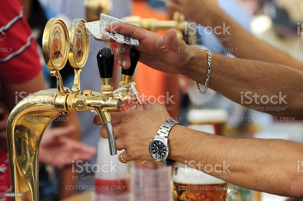 Taybeh Beer in Palestine stock photo