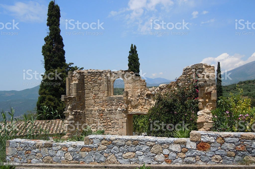 Taygetos Hiking Trails stock photo
