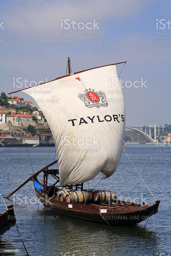Taylor's rabelo Boat, Portugal (Gaia, Oporto - Portugal) royalty-free stock photo