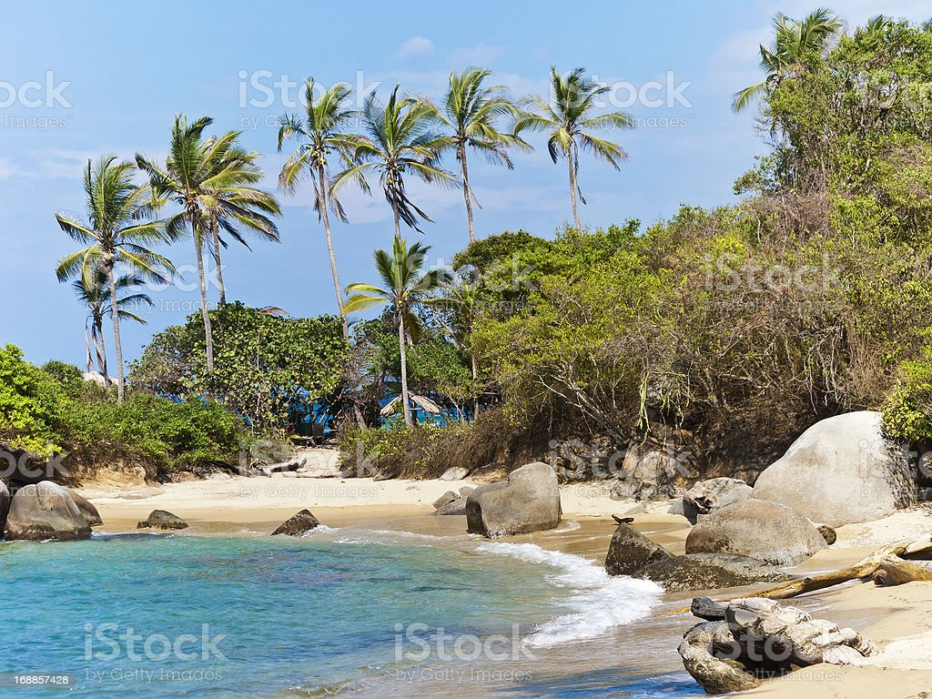 Tayrona National Park, Colombia stock photo