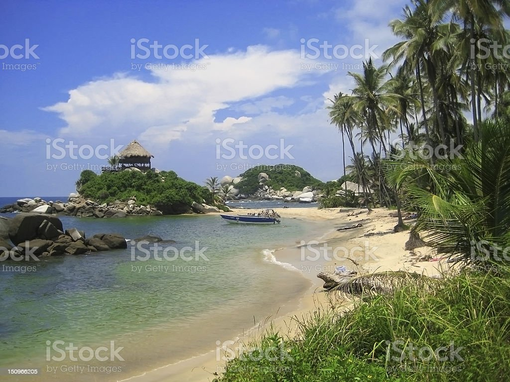 Tayrona national Park, Santa Marta, Colombia, Caribbean coast stock photo