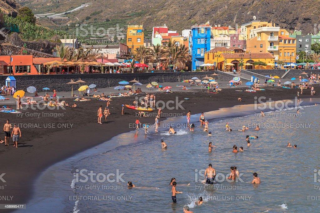 Tazacorte Beach, La Palma royalty-free stock photo