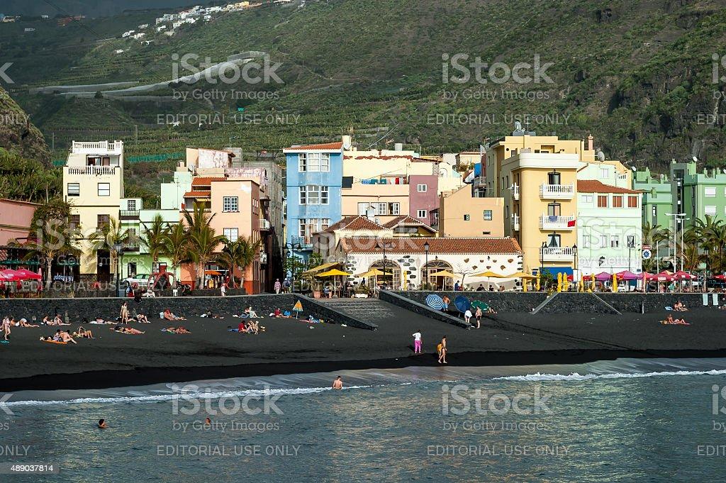 Tazacorte on La Palma, Canary Islands, Spain stock photo