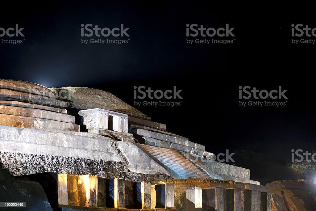 Tazumal ruins @ night stock photo