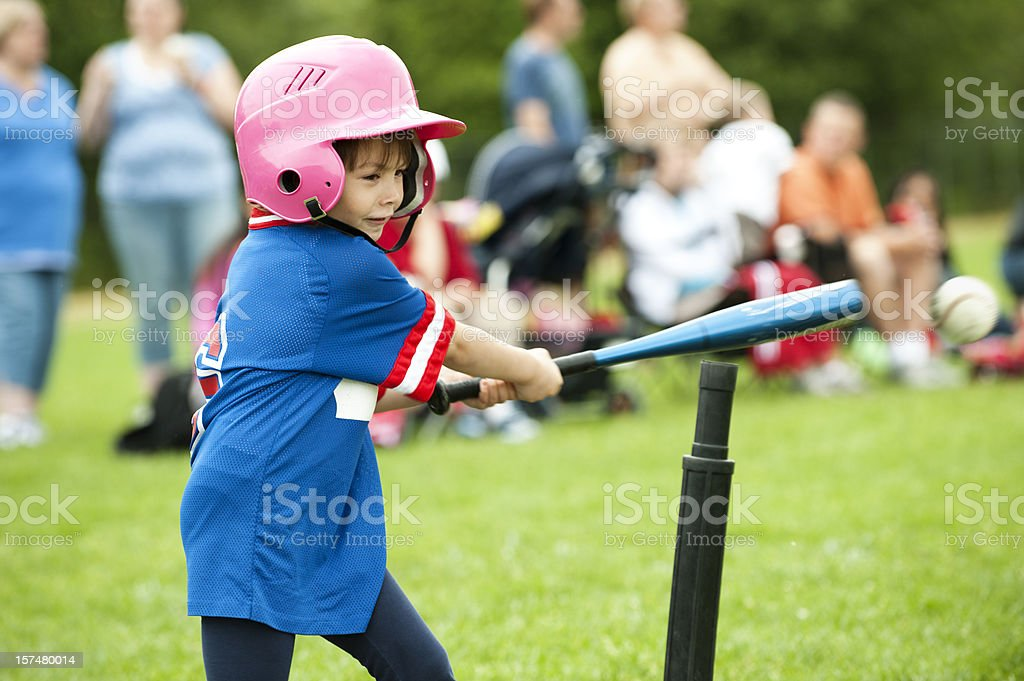 T-ball Hit stock photo