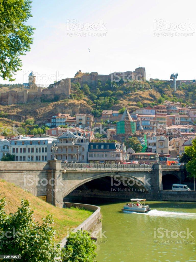 Tbilisi at Georgia stock photo